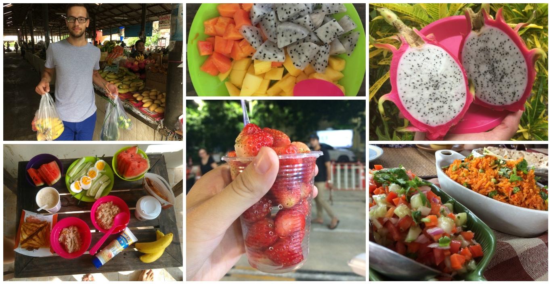 Еда на острове Самуи коллаж
