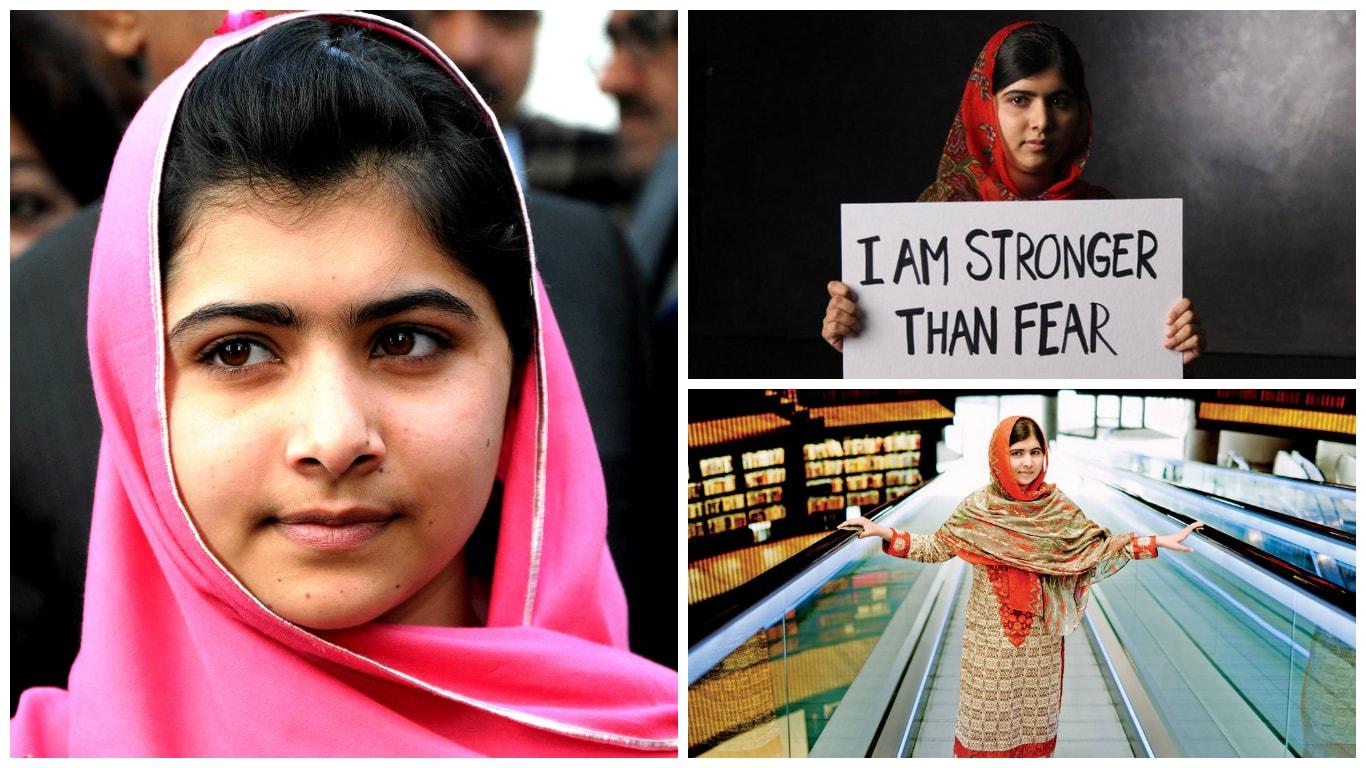 Малала Юсуфзаи фотоколлаж